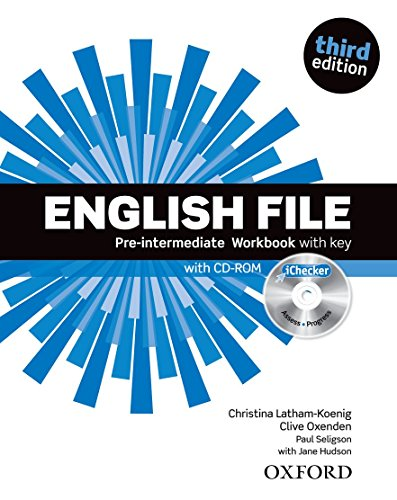 9780194598736: English File third edition: English File 3rd Edition Pre-Intermediate. Workbook with Key and iChecker