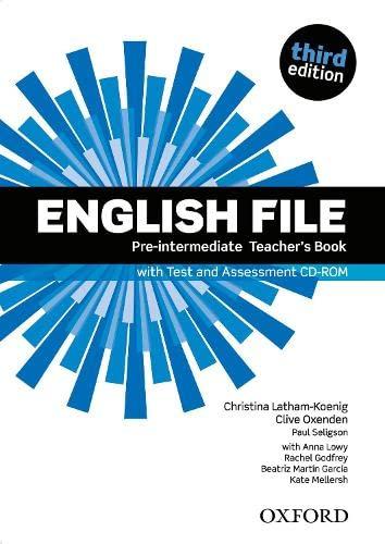 9780194598750: English File third edition: English File Pre-Intermediate: Teacher's Book &test CD Pack 3rd Edition - 9780194598750