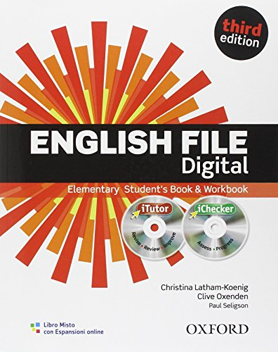 9780194598866: English file digital. Elementary. Student's book-Workbook-iTutor-iChecker. With keys. Con espansione online. Per le Scuole superiori