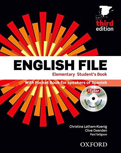 9780194598910: English file elem sb+wb w/k pk 3ed