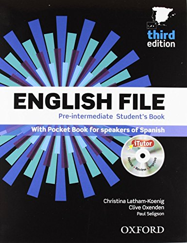 9780194598927: English File 3Ed Pre-Interm Student's Book +Workbook Without Key Pack
