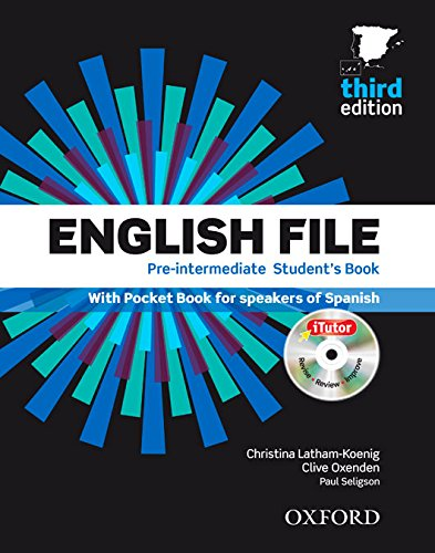 9780194598958: English File Pre-Intermediate: Student's Book, ITutor and Pocket Book Pack 3rd Edition (English File Third Edition)
