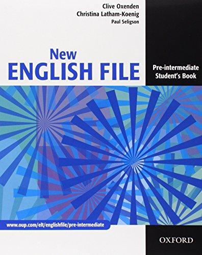 9780194599689: New english file. Pre-intermediate. Student's book-Workbook-My digital book-Entry checker. Con espansione online. Per le Scuole superiori. Con CD-ROM