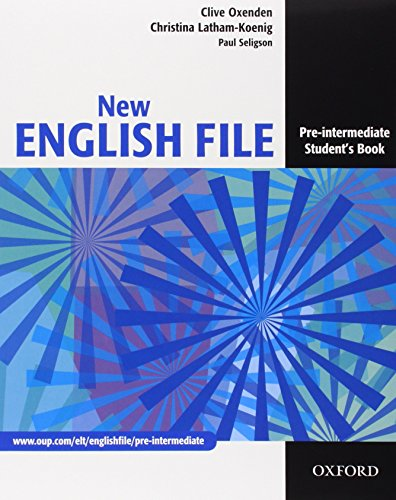 9780194599689: New english file. Pre-intermediate. Student's book-Workbook-My digital book-Entry checker. Con espansione online. Per le Scuole superiori. Con CD-ROM