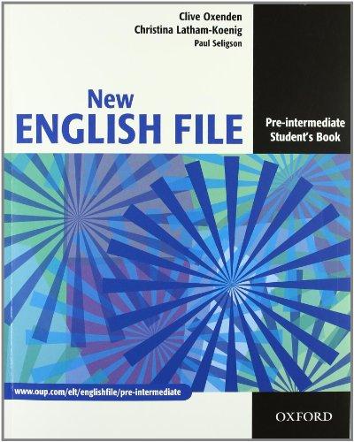 9780194599696: New english file. Pre-intermediate. Entry checker-Student's book-Workbook-My digital book. Per le Scuole superiori. Con espansione online