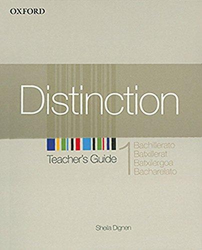 9780194624046: DISTINCTION 1 TG SPANISH ED