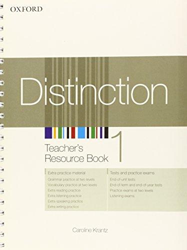 9780194624060: Distinction 1: Teacher's Resource Book