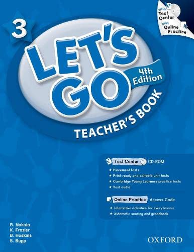 9780194641944: Let's Go 3 Teacher's Book with Test Center CD-ROM: Language Level: Beginning to High Intermediate. Interest Level: Grades K-6. Approx. Reading Level: K-4