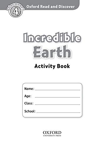 9780194644488: Oxford Read And Discover 4. Incredible Earth. Activity Book
