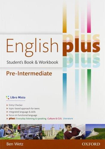 9780194648448: English plus. Pre-intermediate. Entry checker-Student's book-Workbook. Per le Scuole superiori. Con e-book. Con espansione online
