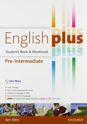 9780194648448: English plus. Pre-intermediate. Entry checker-Student's book-Workbook. Per le Scuole superiori. Con e-book. Con espansione online