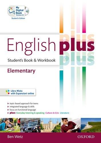 9780194648660: English plus. Elementary. Student's book-Workbook. Ediz. standard. Per le Scuole superiori. Con CD Audio. Con espansione online