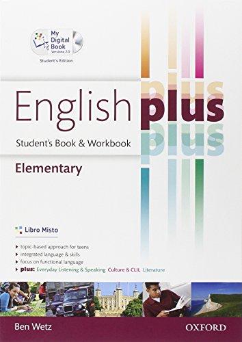 9780194648677: English plus. Elementary. Student's book-Workbook-My digital book. Per le Scuole superiori. Ediz. speciale. Con espansione online