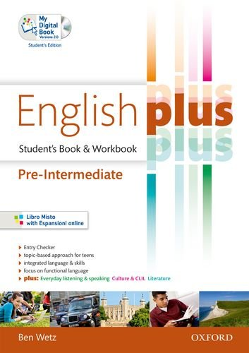 9780194648776: English plus. Pre-intermediate. Student's book-Workbook-My digital book. Con CD
