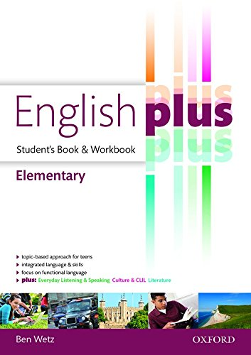 9780194649858: English plus elementary : premium 2.0. Student book-Workbook. Per le Scuole superiori. Con e-book. Con espansione online