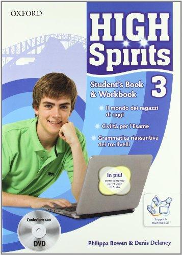 9780194664288: High spirits. Student's book-Workbook-Extrabook. Per la Scuola media. Con CD-ROM. Con DVD-ROM. Con espansione online: 3