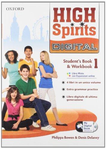 9780194665797: High spirits digital. Student's book-Workbook-Mydigitalbook 2.0. Con espansione online. Per la Scuola media. Con CD-ROM: 1