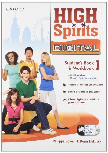 9780194665797: High spirits digital. Student's book-Workbook-Mydigitalbook 2.0. Per la Scuola media. Con CD-ROM. Con espansione online: 1