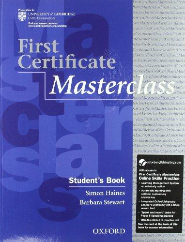 9780194705110: First certificate masterclass. Student's book-Workbook-With Key. Con espansione online. Per le Scuole superiori. Con Multi-ROM