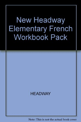9780194716871: New Headway Elementary French Workbook Pack