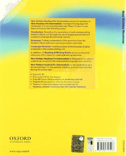 9780194717298: New holiday Headway. Pre-intermediate. Student's book. Per le Scuole superiori. Con CD-ROM