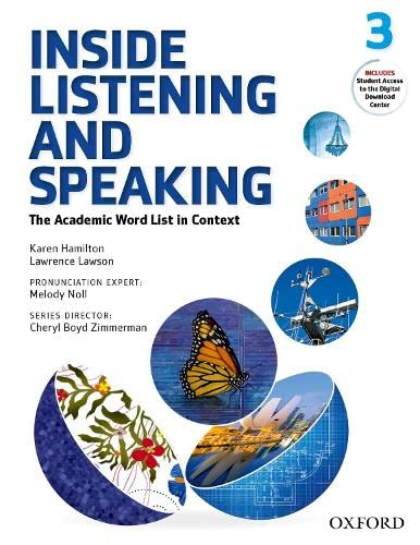 9780194719339: Inside Listening & Speaking 3. Student's Book: The Academic Word List in Context (Inside Reading Second Edition)