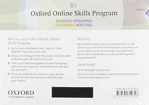 9780194719728: Oxford Online Skills Program: B1,: General English Bundle 2 - Card with Access Code