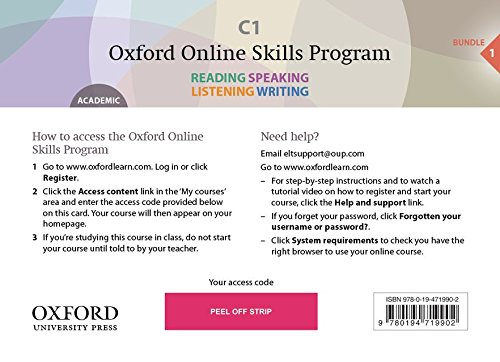 9780194719995: Oxford Online Skills Program: C1,: General English Bundle 1 - Card with Access Code