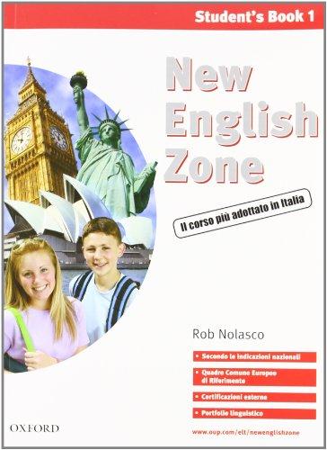 9780194730013: New english zone. Student's pack. Student's book-Workbook-Portfolio. Con CD Audio. Per la Scuola media: 1