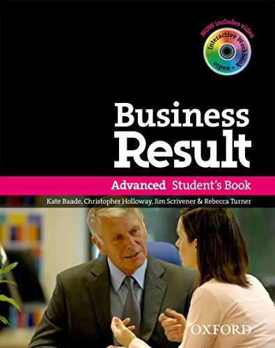 9780194739412: Business result DVD Edition: Advanced: Student's Book Pack with DVD-ROM