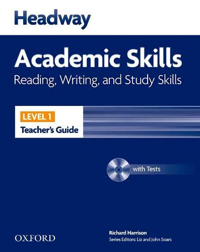 9780194741620: Headway Academic Skills: 1: Reading, Writing, and Study Skills Teacher's Guide with Tests CD-ROM