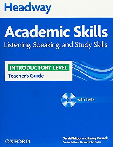 9780194741934: Headway Academic Skills: Headway Introductory Level:Academic Skills Listening, Speaking and Study Skills Teacher's Guide (New Headway Academic Skills)