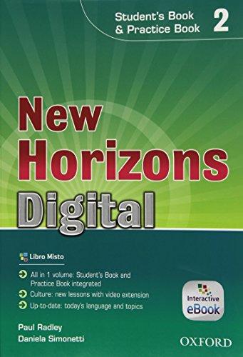 9780194745017: New horizons digital. Student's book-Workbook. Per le Scuole superiori. Con e-book. Con espansione online: 2