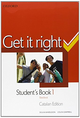 9780194745901: Get it Right 1: Student's Book and Oral Skills companion (Catalan)