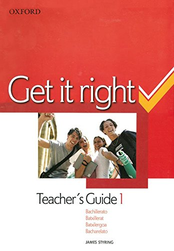9780194746069: Get It Right 1: Teacher's Guide Spanish Ed
