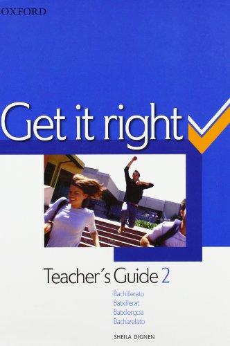 9780194746182: Get It Right 2: Teacher's Guide Spanish Ed
