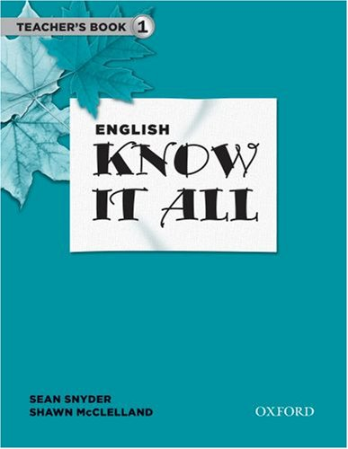 9780194750035: English Know It All: Teacher's Book 1