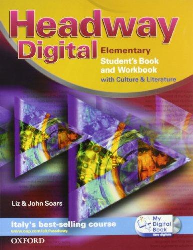9780194755054: Headway digital. Elementary. Student's book-Workbook with key-My digital book. Con espansione online. Per le Scuole superiori. Con CD-ROM
