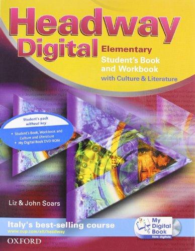9780194755061: Headway digital. Elementary. Student's book-Workbook-My digital book. Con espansione online. Per le Scuole superiori. Con CD-ROM