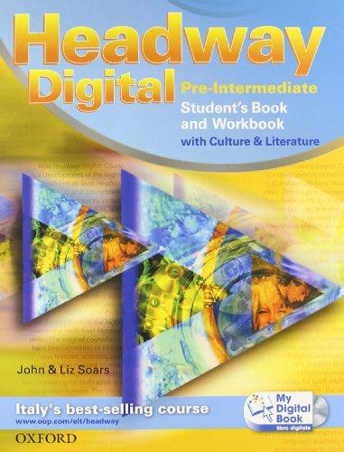 9780194755153: Headway digital. Pre-intermediate. Student's book-Workbook with key-My digital book. Con espansione online. Per le Scuole superiori. Con CD-ROM