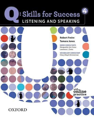 Q: Skills for Success 4 Listening &: Freire, Robert; Jones,