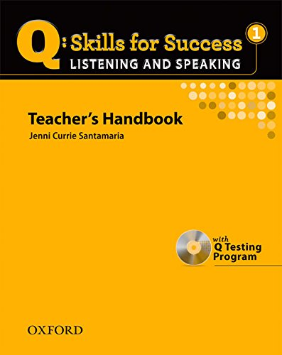 9780194756150: Q Skills for Success: Listening and Speaking 1: Teacher's Book with Testing Program CD-ROM