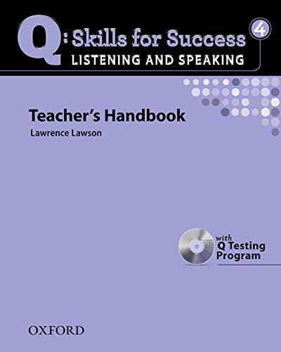 9780194756181: Q Skills for Success: Q Listening & Speaking 4: Teacher's Book Pack