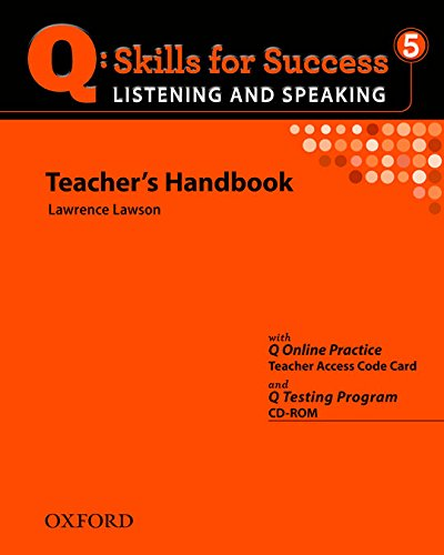 9780194756198: Q Skills for Success: Listening and Speaking 5: Teacher's Book with Testing Program CD-ROM