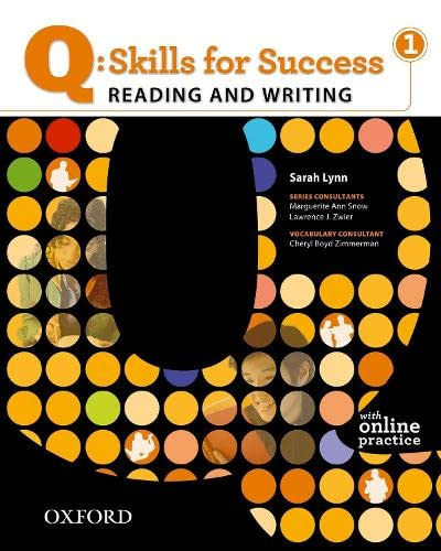 9780194756228: Q Skills for Success: Reading and Writing 1: Student Book with Online Practice