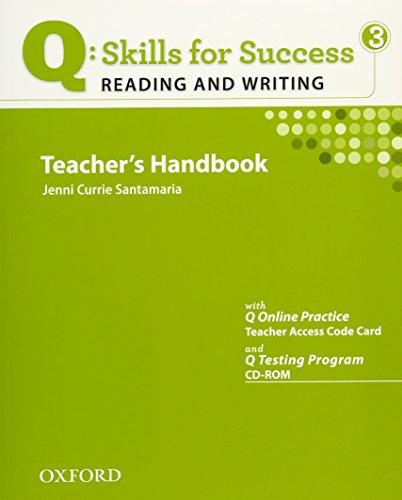 9780194756297: Q Skills for Success: Q Reading & Writing 3: Teacher's Book Pack