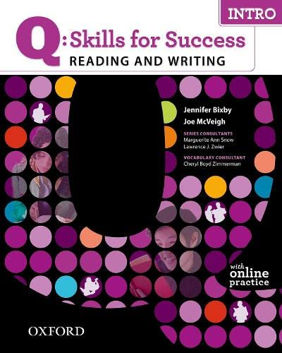 9780194756501: Q: Skills for Success Reading & Writing Intro Student Book with Student Access Code Card