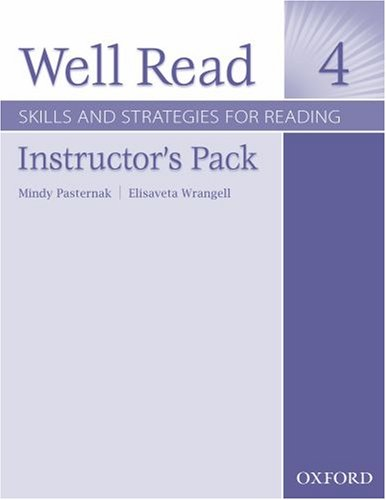 9780194761130: Well Read 4 Instructor's Pack: Skills and Strategies for Reading
