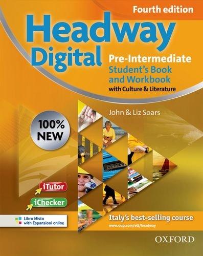 9780194770804: New headway digital. Pre-intermediate. Student's book-Workbook. Without key. Con espansione online. Per le Scuole superiori.