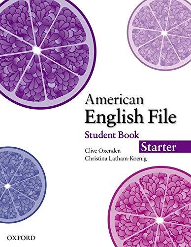 9780194774000: American English File Starter Student Book